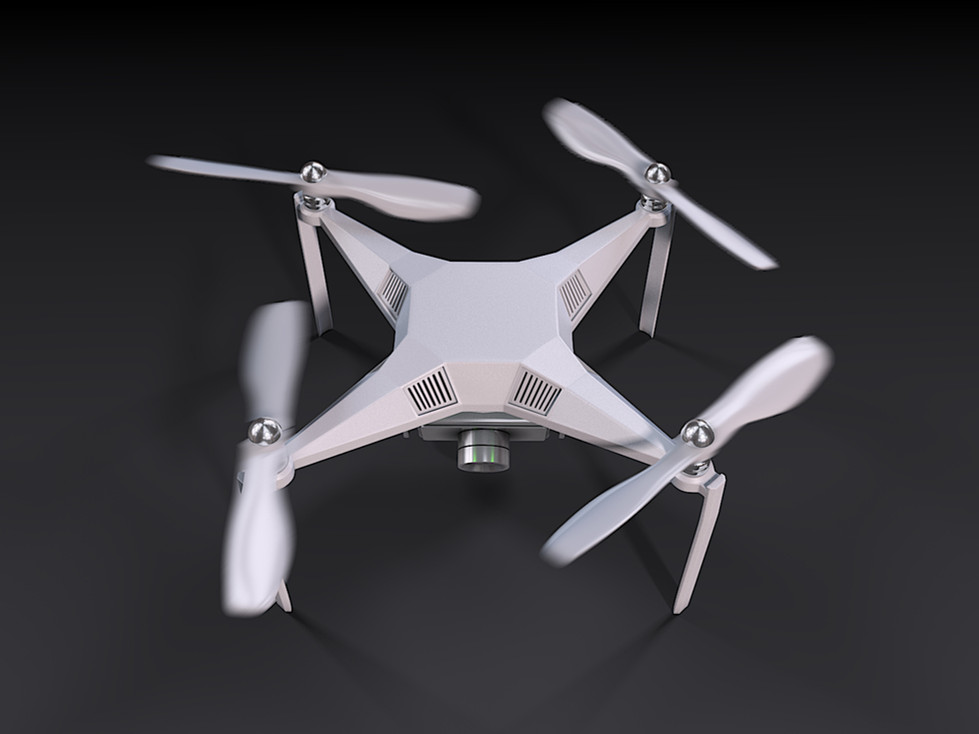 3D Rendering for the UAV drone on the ground