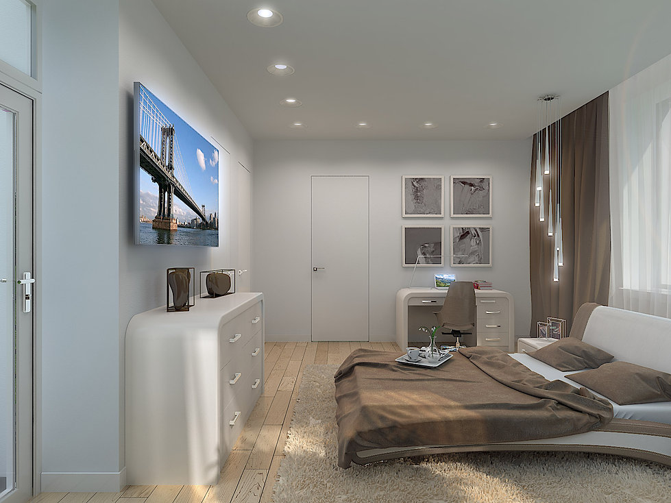 3D rendering for the bedroom view no 2