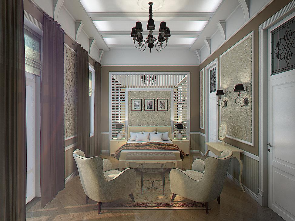 3D Rendering for the bedroom in Batumi