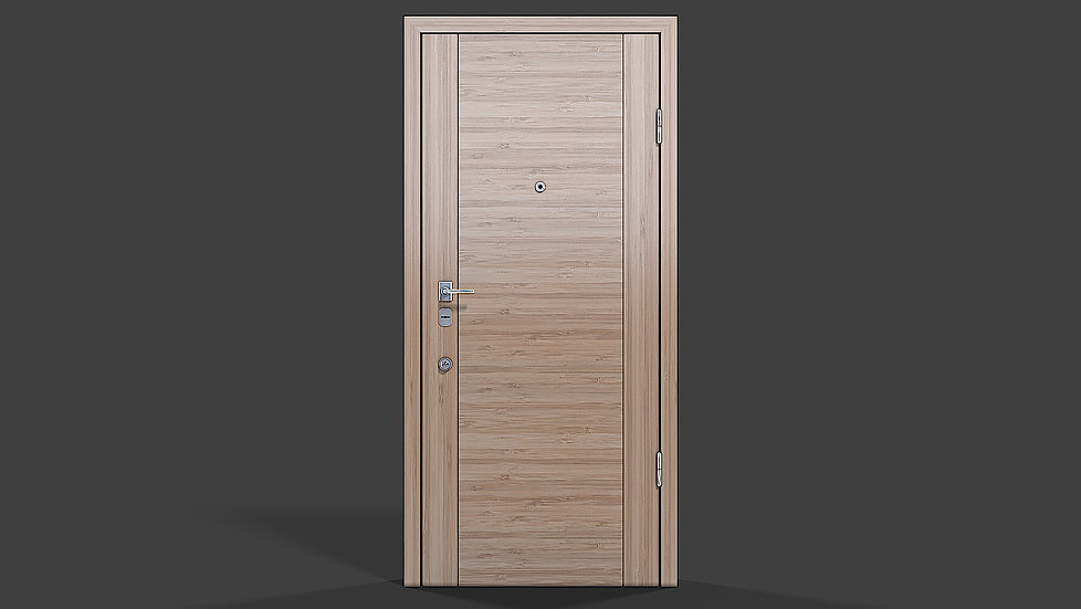 Product 3D rendering for the closed door