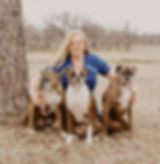 Shelley Harbin with her dogs