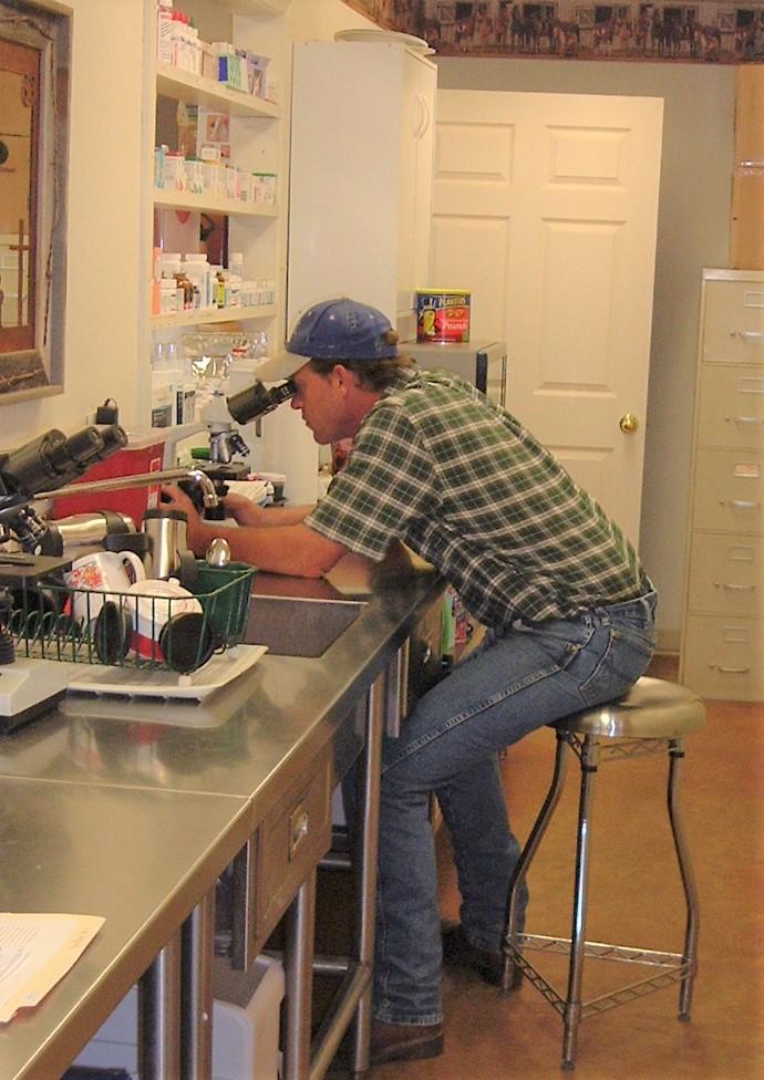 Dr. w/ microscope