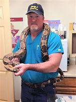 Dr. Browning and ball python