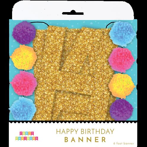 Pom-Pom Happy Birthday Banner