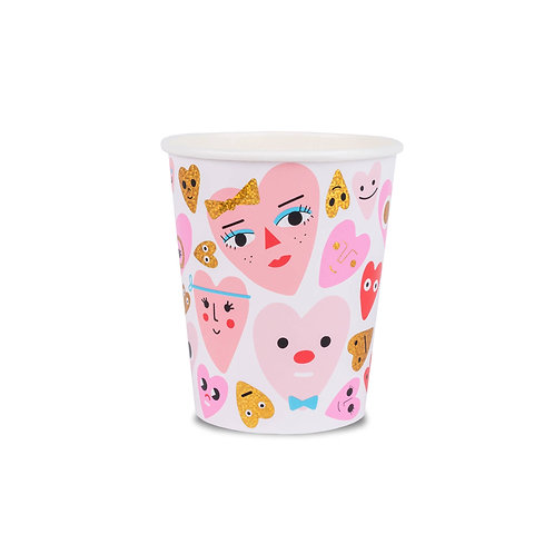 Heartbeat Gang Cups (Pack of 8)