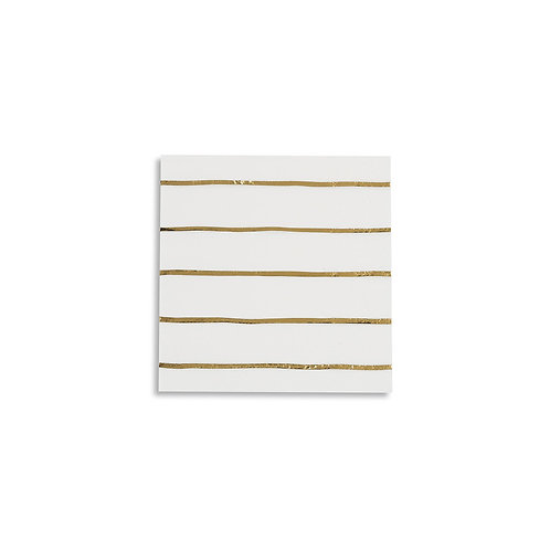 Frenchie Metallic Striped Petite Napkins (Pack of 16)