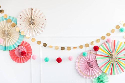 Colorful Basic Pom Pom Banner