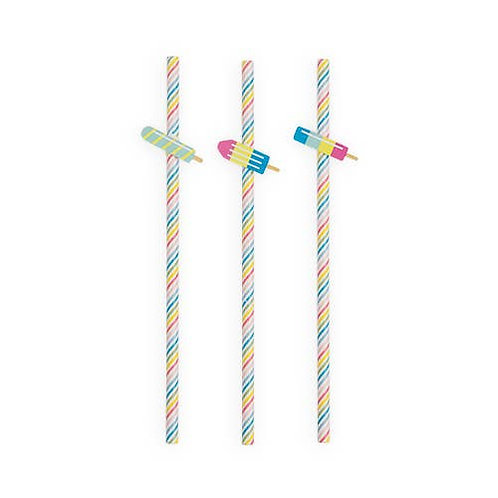 Assorted Ice Lolly Straws