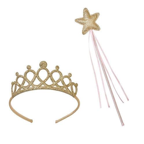 We Heart Pink Gold Wand & Tiara Set