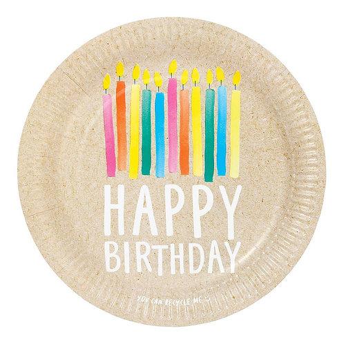 Happy Bday 23 Cm Plate