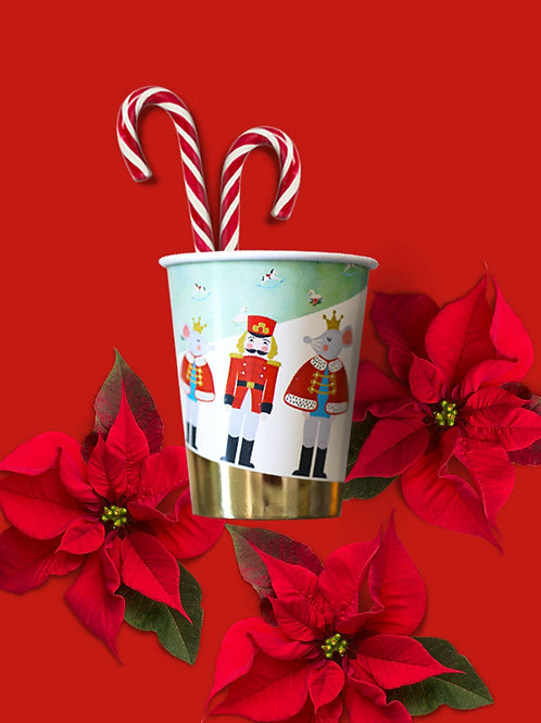 Nutcracker Holiday Party Cups - Holiday Party Supplies
