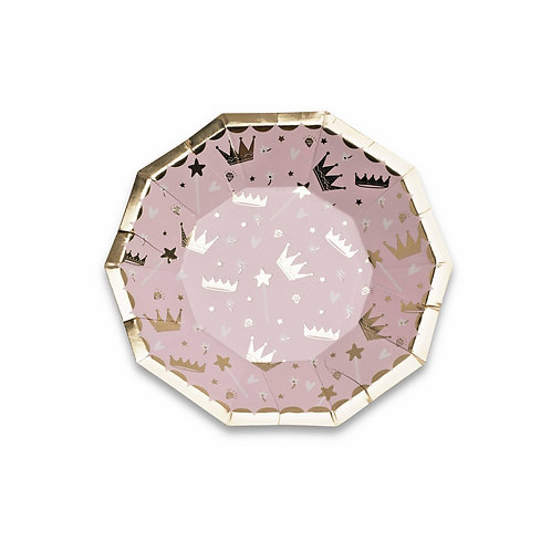 Sweet Princess Small Plates (Pack of 8)