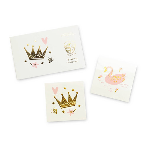 Sweet Princess Temporary Tattoos (Pack of 2)