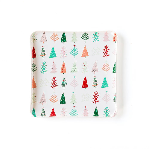 """Oui Party Christmas 9"""" Trees Plate"""