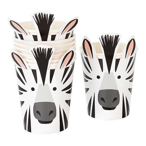 Party Animals Zebra Cups