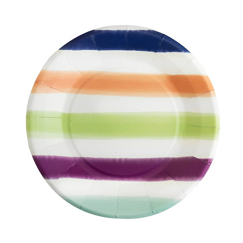 """Striped 7"""" Paper Plate Set of 8"""
