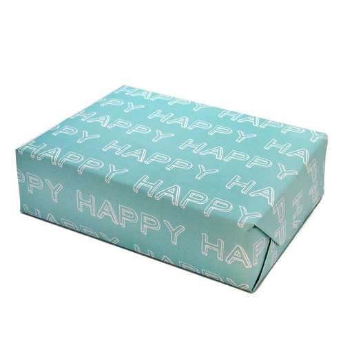 Happy Typographical Gift Wrap Paper