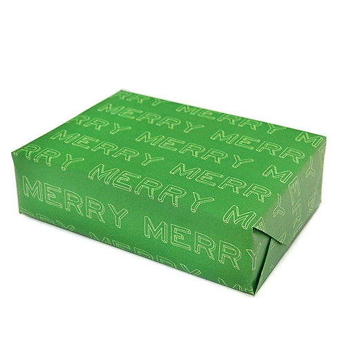 Merry Typographical Gift Wrapping Paper, Flat Sheets