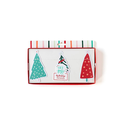 Fa La La Christmas Tree Banner