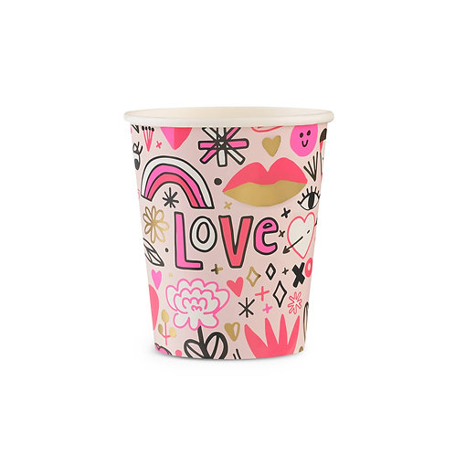 Love Notes Cups (Pack of 8)