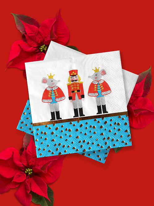 Nutcracker Holiday Party Napkins - Holiday Party Supplies