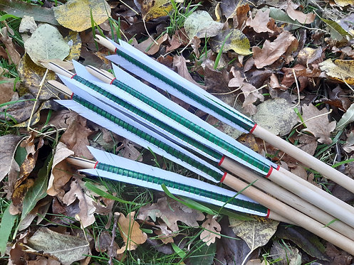 "1/2"" birch warbow arrow set with Winchester Museum heads"