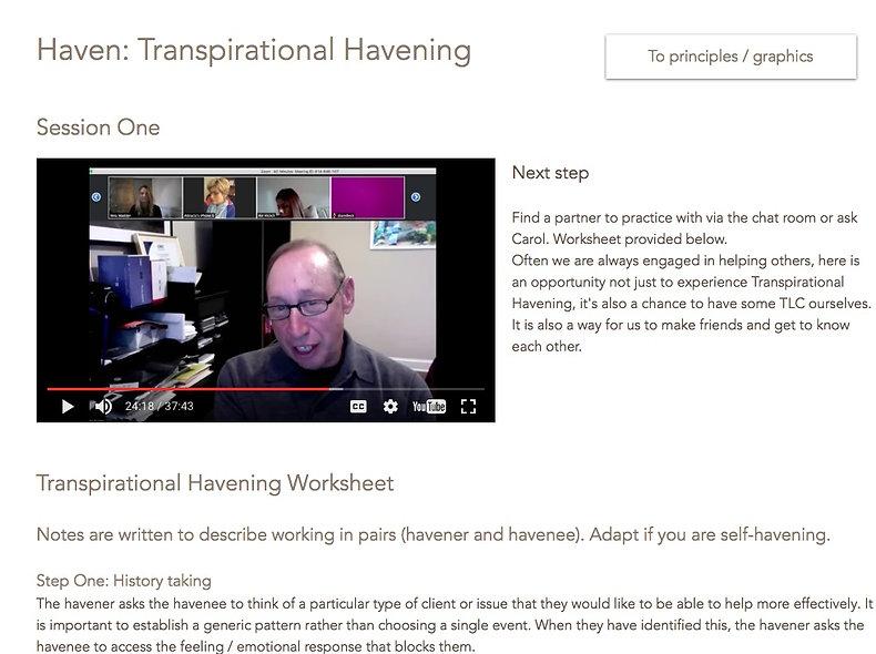 Haven: Transpirational Havening