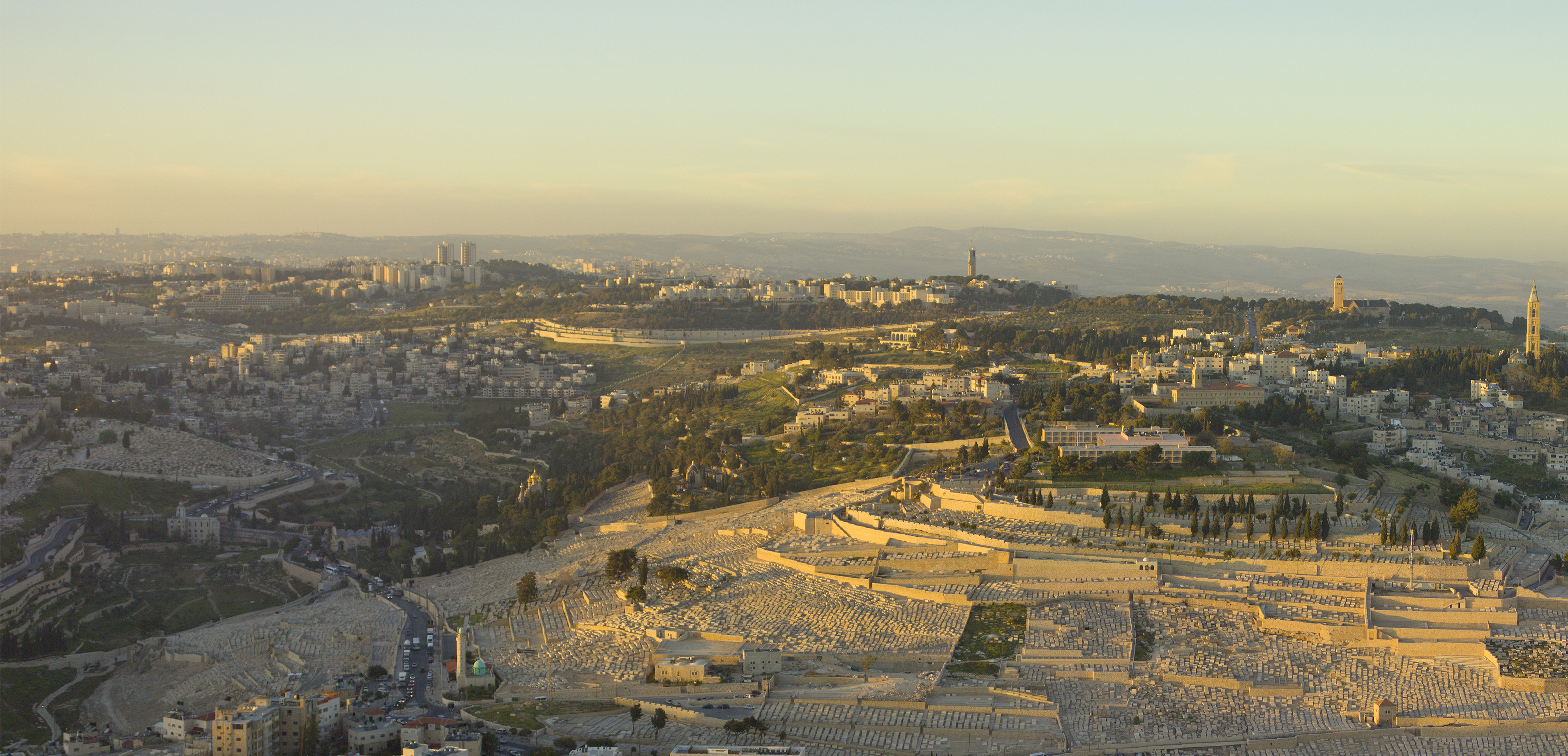 Israel-2013-Aerial-Mount_of_Olives.2