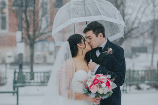 Nick & Michelle | A Winter Wedding in April at Crystal Fountain Event Venue