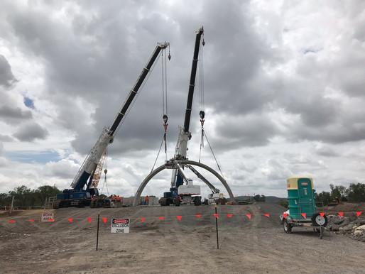 Three Chain Road BEBO Arch Installation