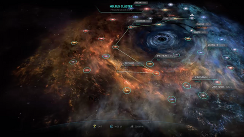 Galxy map of Mass Effect Andromeda