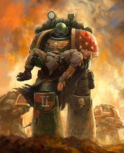 Salamander carrying guardsmen