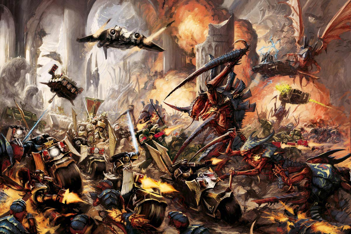 Dark Angels battle the Tyranids