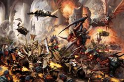 Dark Angels battle the Tyranids