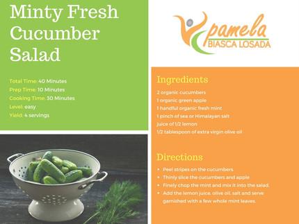 Minty Fresh Cucumber Salad