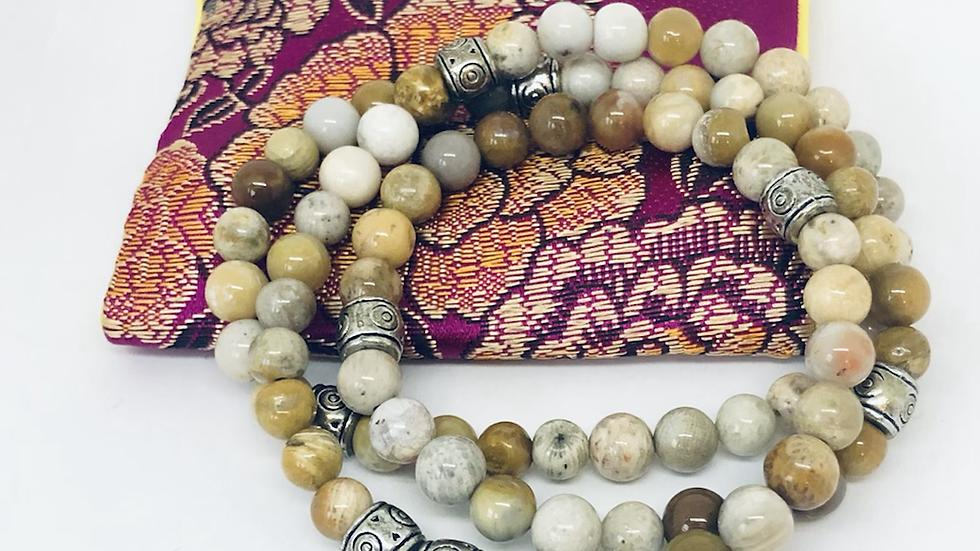Wrap Bracelet- Natural Stone