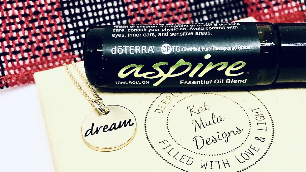 """Dream Necklace (with """"Aspire"""" DoTerra essential oil roller)"""