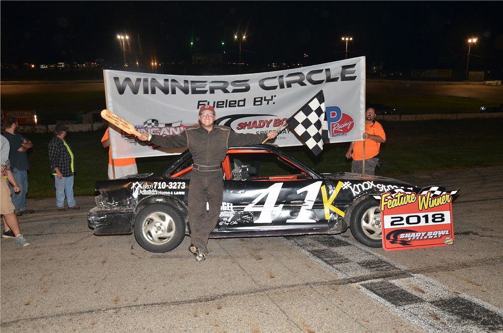 DeGraff's Justin Pope swept the Buckeye FWD Mini Stocks, setting fast time, winning the dash and the feature.