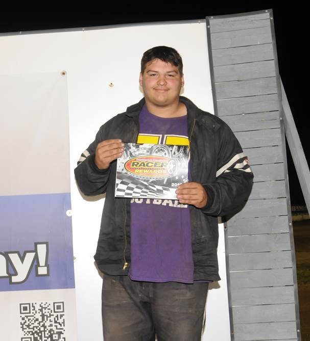 Chad McClean wins a Contingency Connection Racer Reward for his win in the Thunder Stock division at Plymouth Speedway in Plymouth, Indiana June 9.