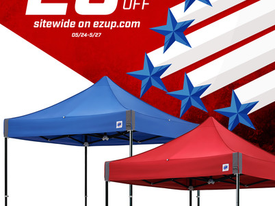 Save TODAY on E-Z Up Shelters