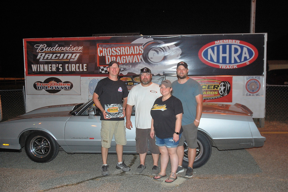 Chad Eaton won the Sportsman division at Crossroads Dragway and was awarded Racer Rewards Aug. 4.