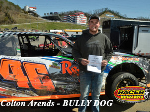 Bristol Motor Speedway Dirt Nationals Bully Dog Winner Colton Arends