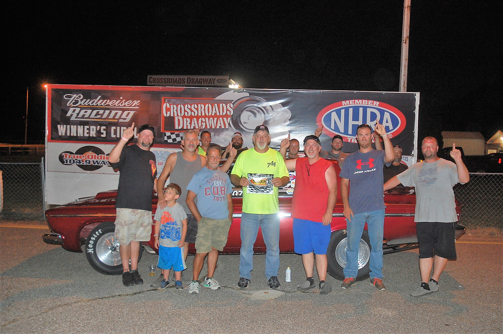 Thad Mann won the Pro division at Crossroads Dragway and was awarded Racer Rewards Aug. 4.