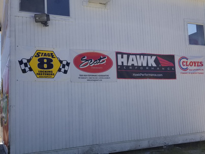 Sponsor Banners Frame Races at Lost Creek Raceway