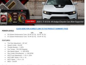 DiabloSport adds tuning for 2020 Dodge, Chrysler cars