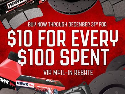 Save $10 at Hawk Performance
