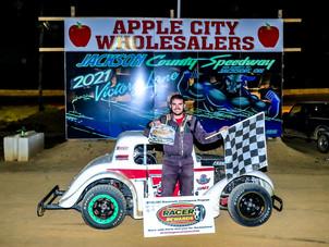 Jackson County Speedway Racer Rewards Winner Steve Partin