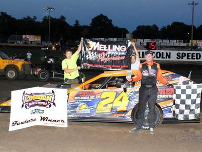 Lincoln Speedway Winner B-Mod Driver #24 Steve Phillips