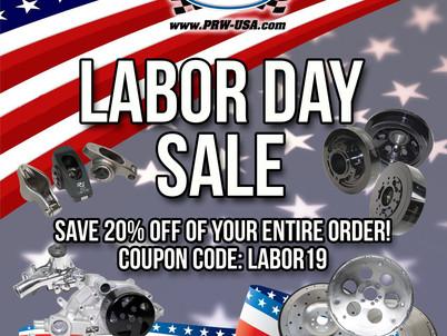 PRW Labor Day Sale