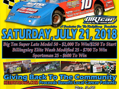 Macon Speedway hosts Kerby Strong 100 July 21